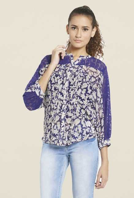 Globus Blue Printed Top