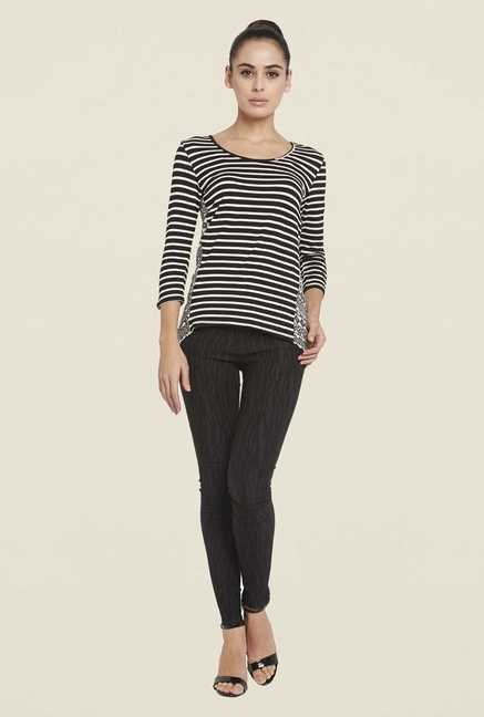Globus Black Striped Top