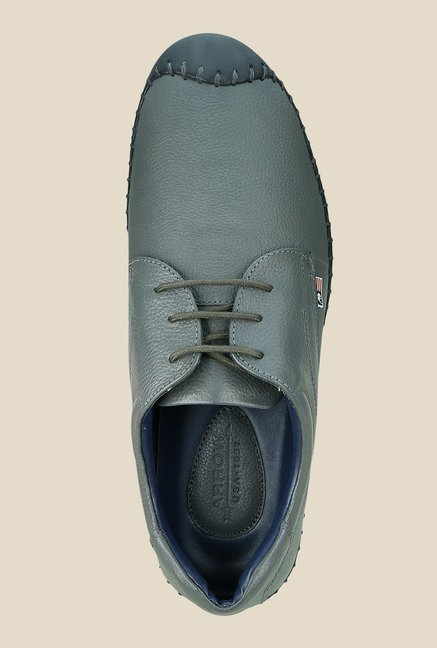 Arrow Grey Leather Derby Shoes
