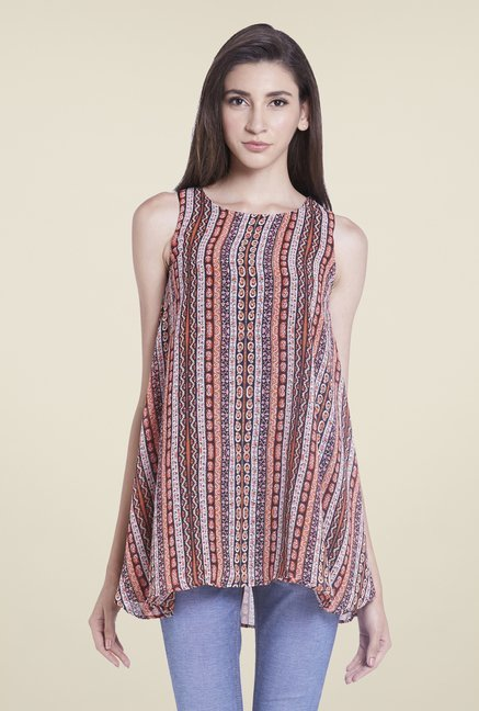 Globus Multicolor Printed Sleeveless Top