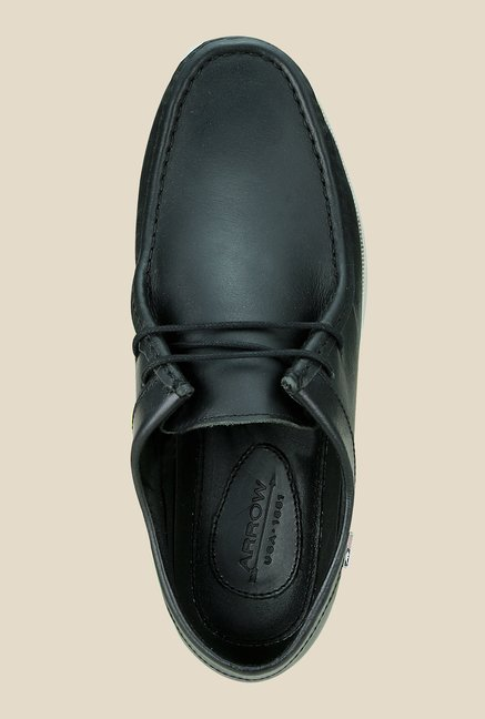 Arrow Black Leather Casual Shoes