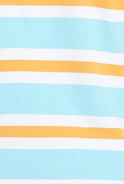 Globus Turquoise Striped Polo T Shirt