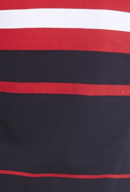Globus Red & Black Striped Polo T Shirt