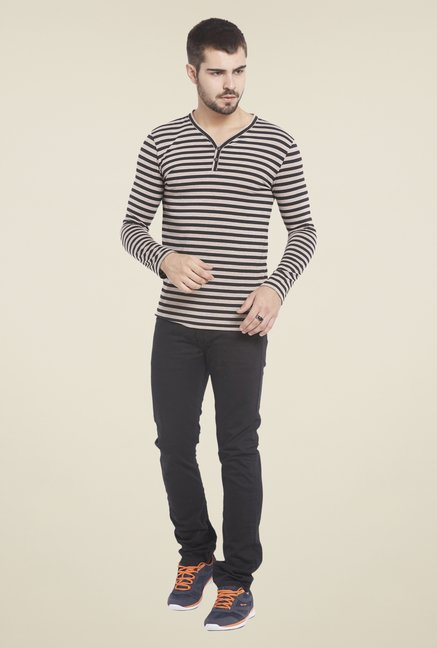 Globus Black Striped T Shirt