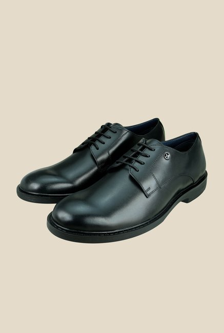 Arrow Black Formal Derby Shoes