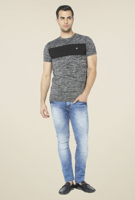 Globus Grey Printed T Shirt