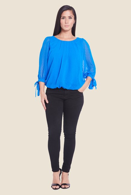 Globus Blue Sheer Top