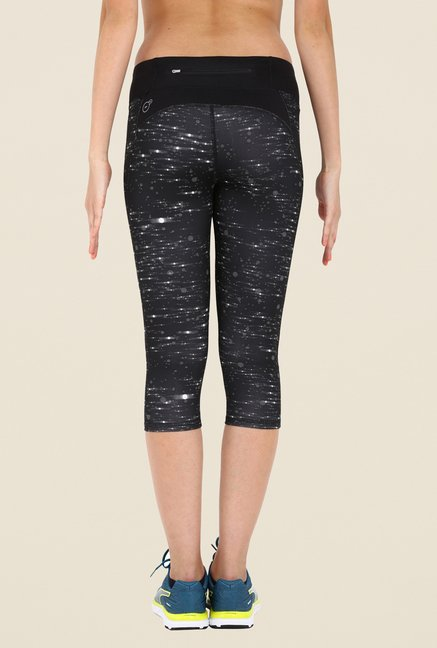 Puma Dark Grey Printed Capris