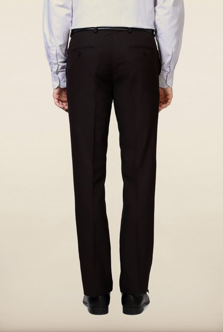 University of Oxford Brown Solid Formal Trouser