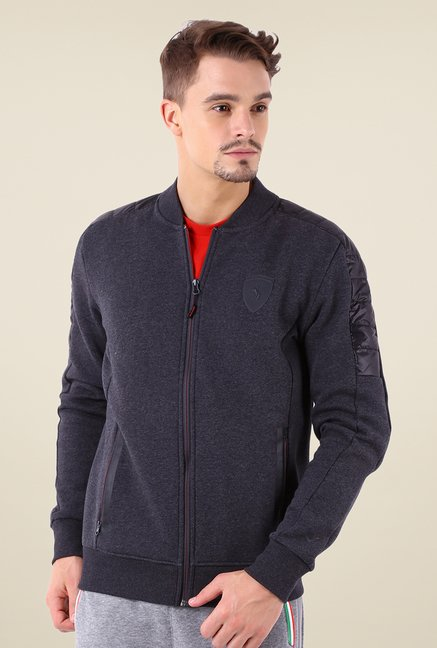 Puma Dark Grey Solid Jacket