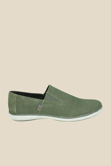 Arrow Olive Canvas Plimsolls