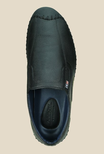 Arrow Black Casual Slip-Ons