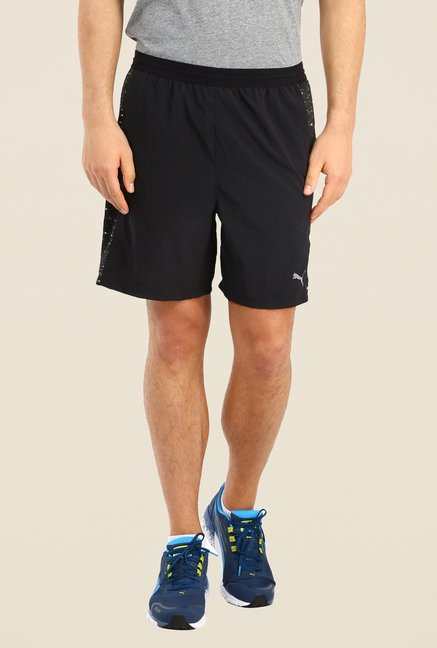 Puma Black Solid Sports Shorts