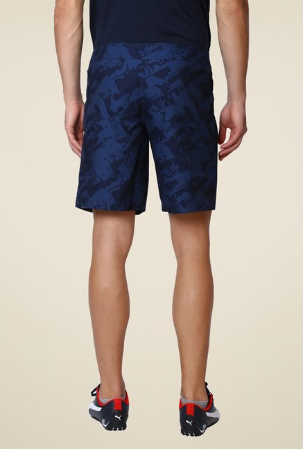 Puma Navy Printed Sports Shorts