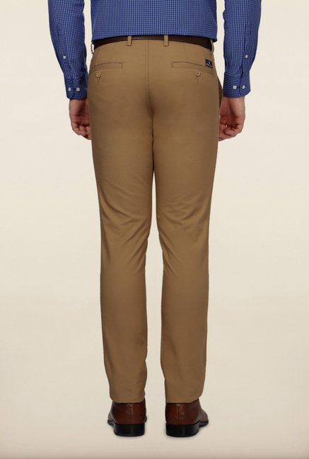 Allen Solly Brown Solid Formal Trouser