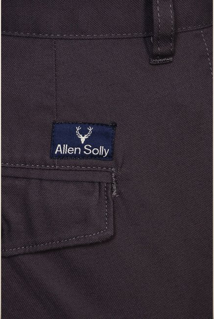Allen Solly Grey Solid Formal Trouser