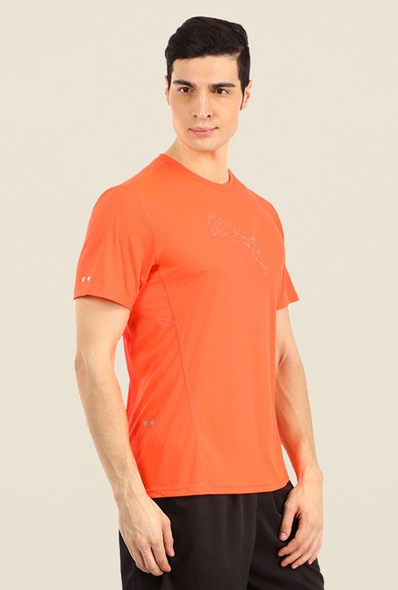 Puma Orange Checks T Shirt