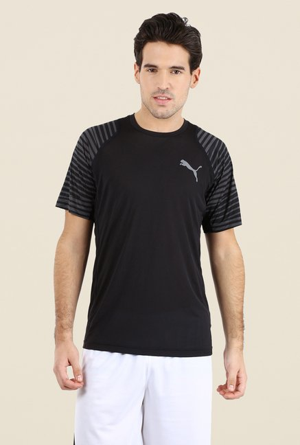 Puma Black Printed T Shirt