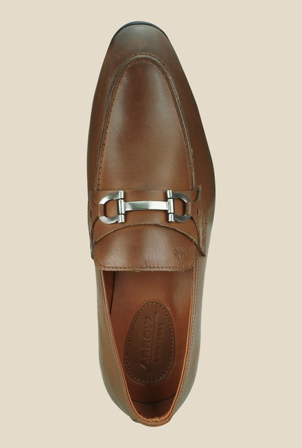 Arrow Tan Formal Slip-Ons