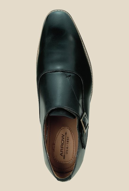 Arrow Black Monk Formal Shoes