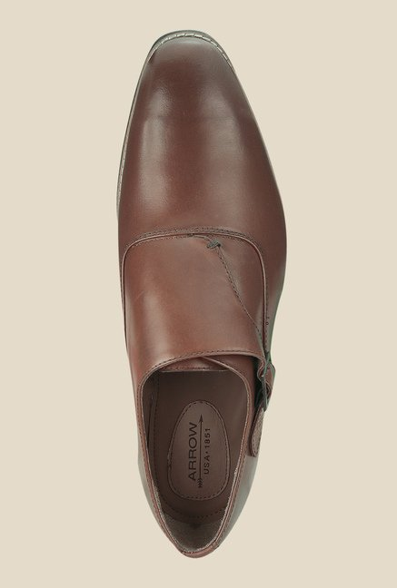 Arrow Brown Monk Formal Shoes