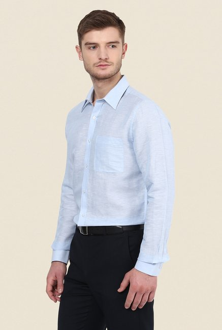 Turtle Sky Blue Solid Shirt