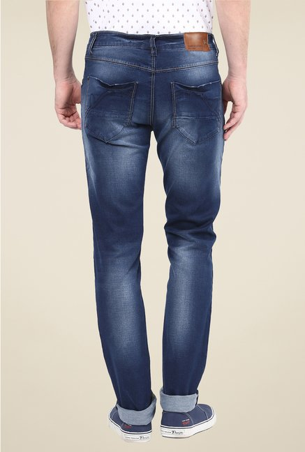 Turtle Navy Heavily Washed Jeans