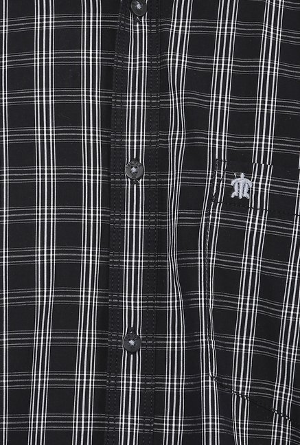 Turtle Black Checks Shirt