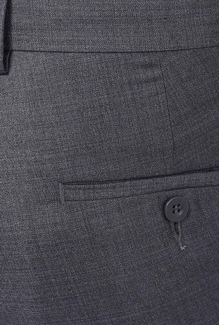 Turtle Grey Solid Trouser