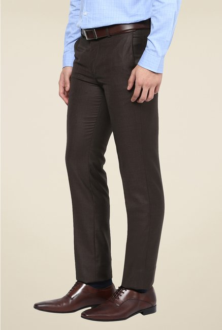 Turtle Brown Solid Trouser