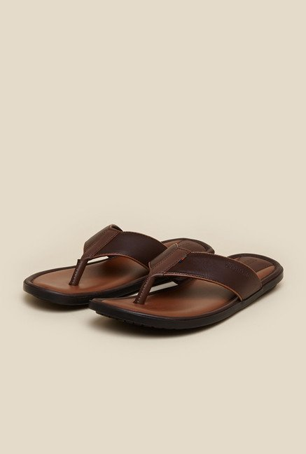 Buckaroo Comfirox Brown Leather Thong Sandals