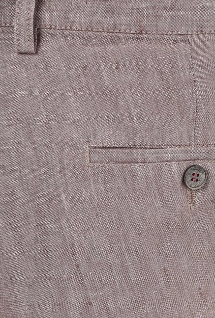 Turtle Brown Linen Trouser