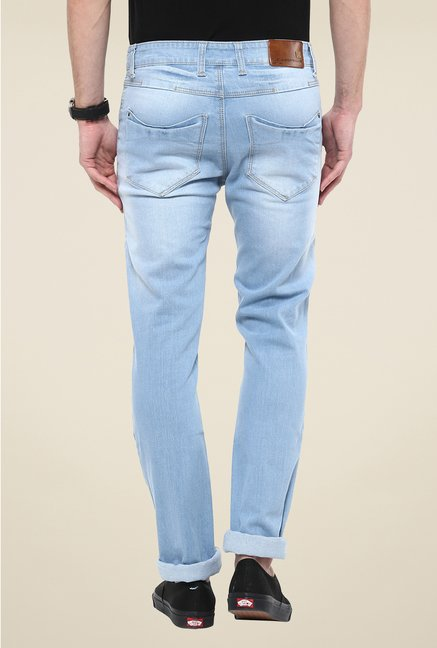 Turtle Light Blue Lightly Washed Jeans