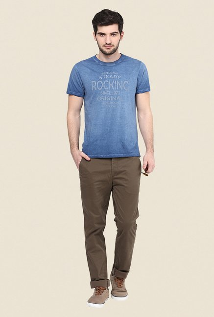Turtle Brown Solid Chinos
