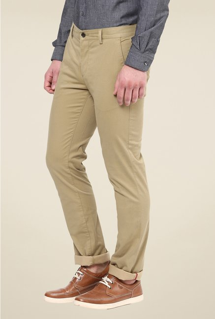Turtle Khaki Solid Chinos