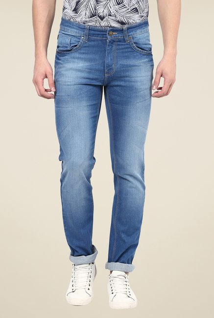 Turtle Blue Lightly Washed Jeans