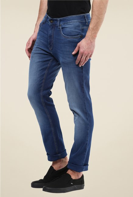 Turtle Dark Blue Lightly Washed Jeans