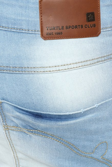 Turtle Light Blue Heavily Washed Jeans