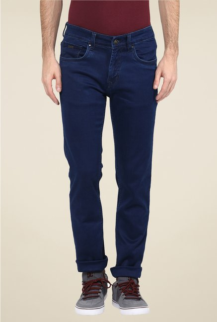 Turtle Navy Raw Denim Slim Fit Jeans