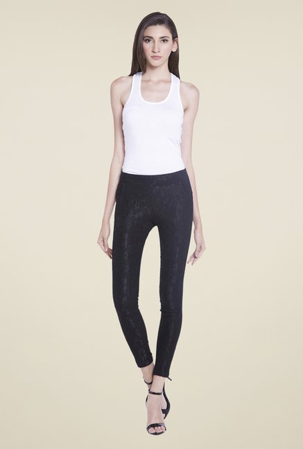 Globus Black Solid Jeggings