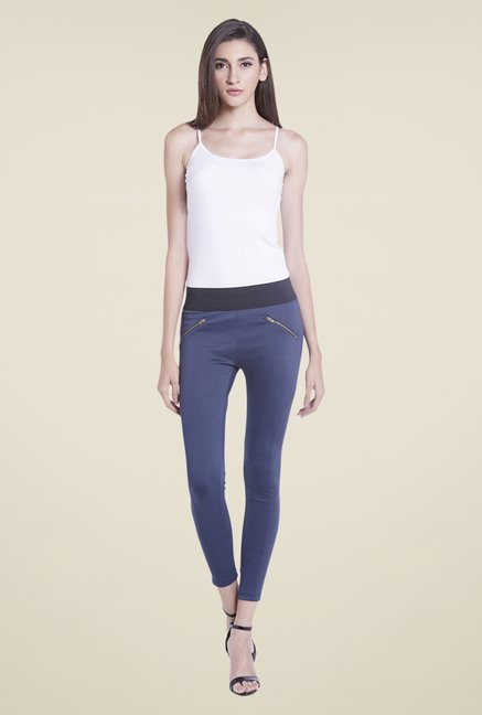 Globus Navy Solid Jeggings