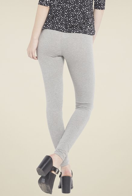 Globus Grey Solid Leggings