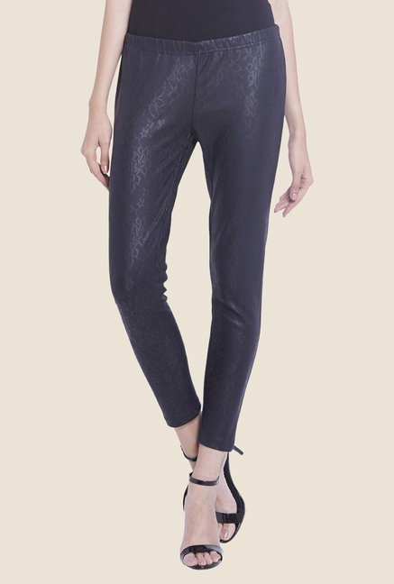 Globus Navy Self Printed Leggings