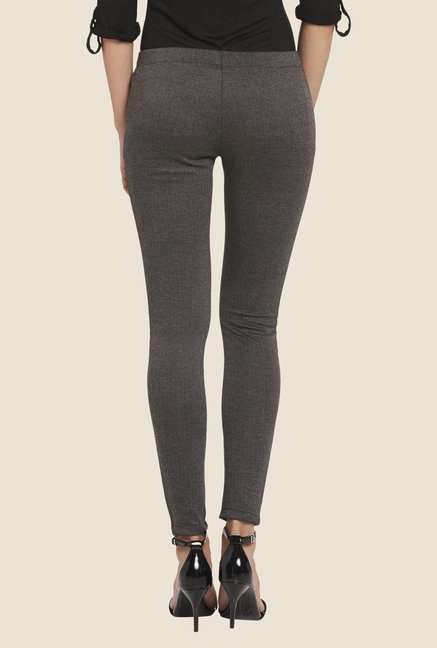 Globus Grey Chevron Printed Leggings