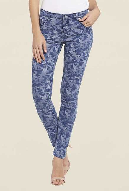 Globus Blue Camo Skinny Fit Jeans
