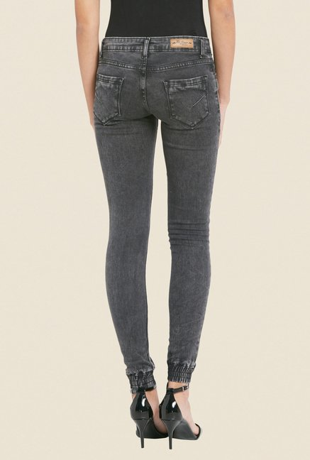 Globus Black Ripped Skinny Fit Jeans