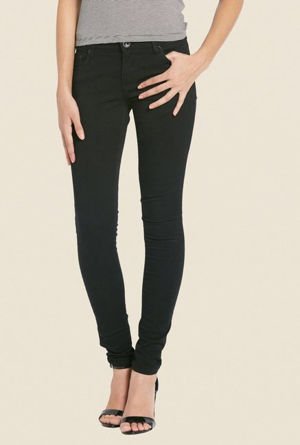 Globus Black Solid Denim Jeans