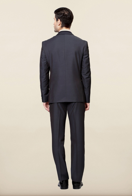 Van Heusen Black Solid Formal Suits