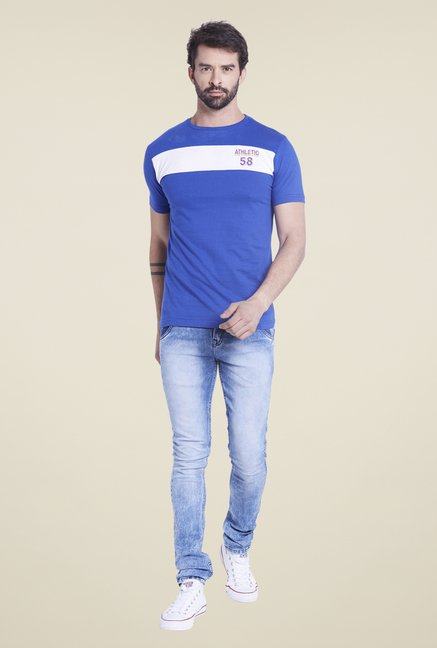 Globus Blue Solid T Shirt