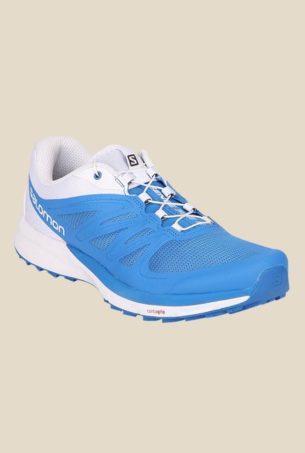 Salomon Sense Pro 2 Bright Blue & White Running Shoes